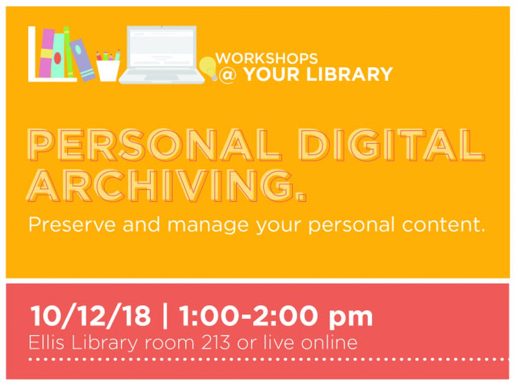 Workshops @ Your Library, Oct. 12