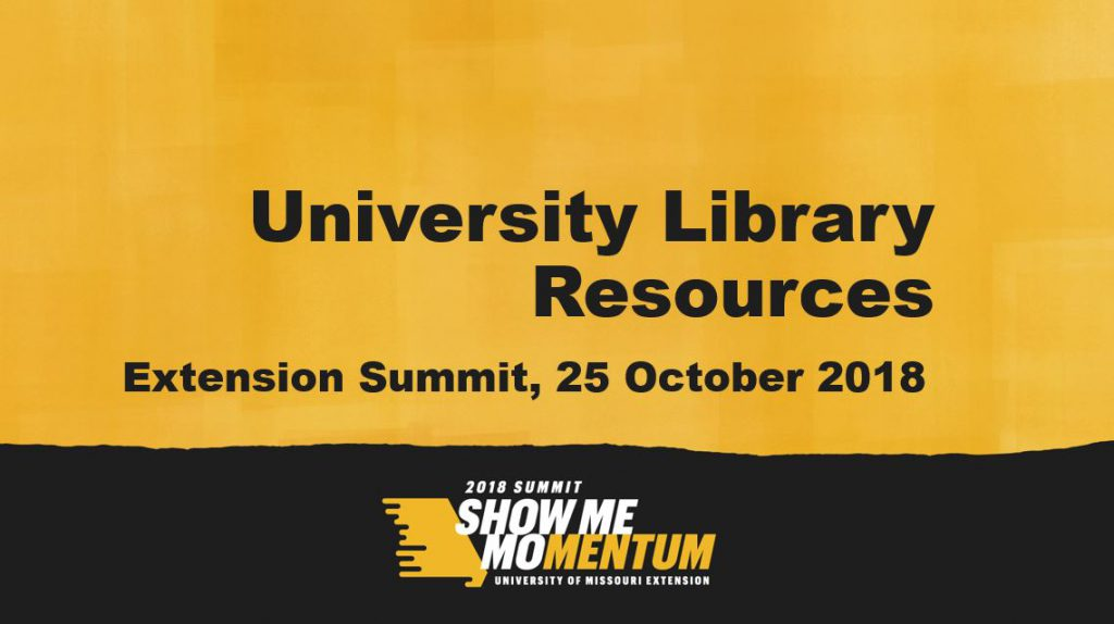 Library Resources for Mizzou Extension