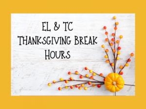 Engineering Library : Thanksgiving Break Hours