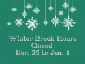 Ellis Library Winter Break Hours