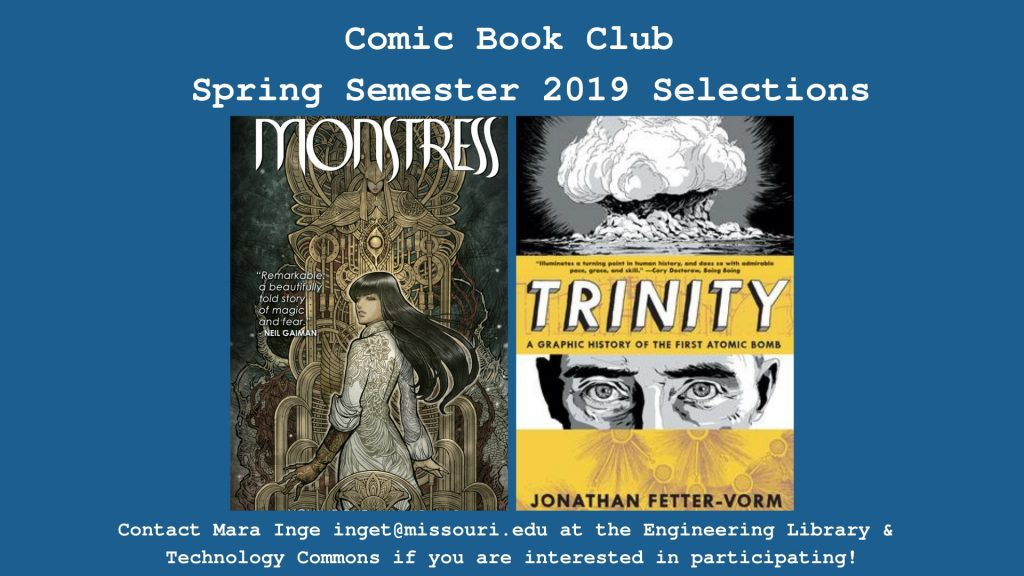 Comic Book Club Spring Semester Selections – Library News