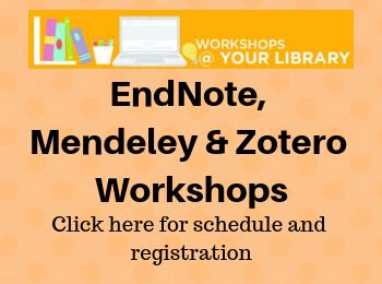 Citation Management Workshops