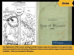 Digitized MU course catalogs and maps are available in MOspace.
