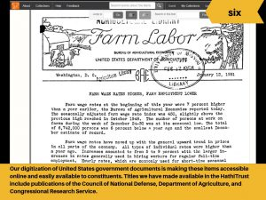 Digitization of United States government documents is making these items easily accessible.