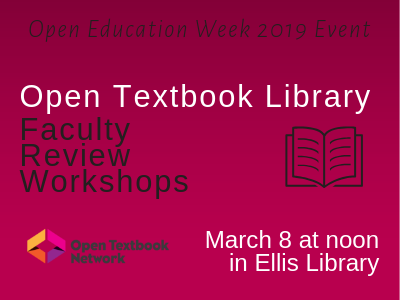 Open Ed Week event for faculty – $250 stipend