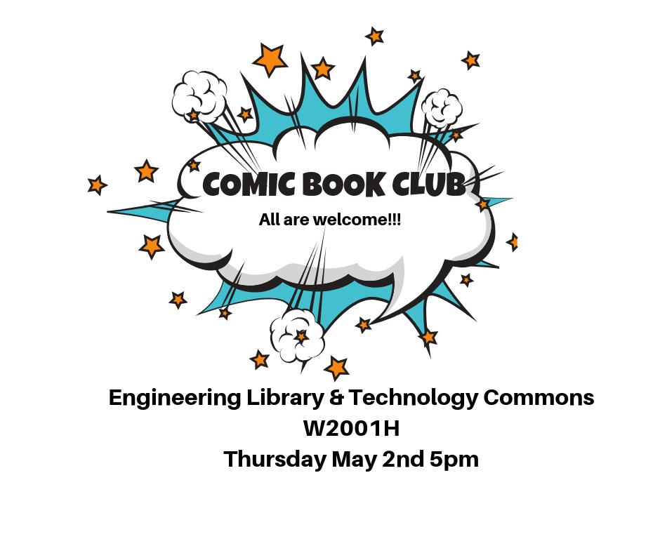 Comic Book Club Meeting Thursday May 2nd
