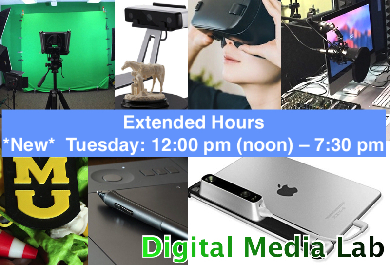 Digital Media Lab Extended Hours