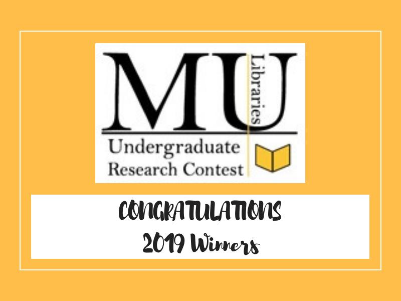 Undergraduate Research Contest Winners Announced