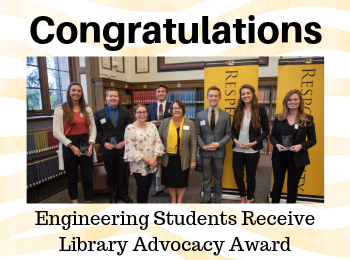 Engineering Students Receive Library Advocacy Award