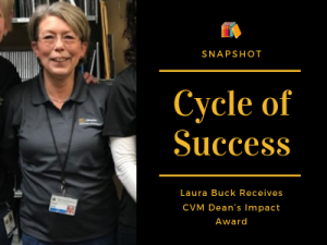 Laura Buck Receives CVM Dean's Impact Award