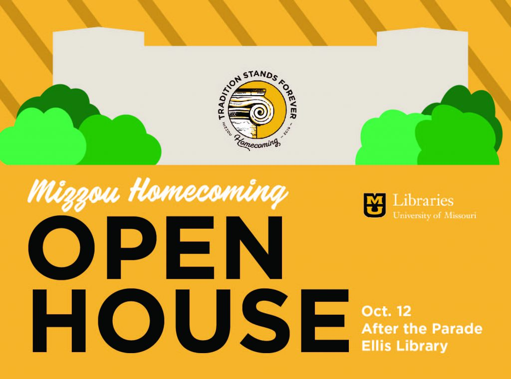 Families Welcome at Ellis Library Open House After the Homecoming Parade