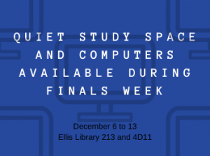 Quiet Study Space with Computers Available During Finals