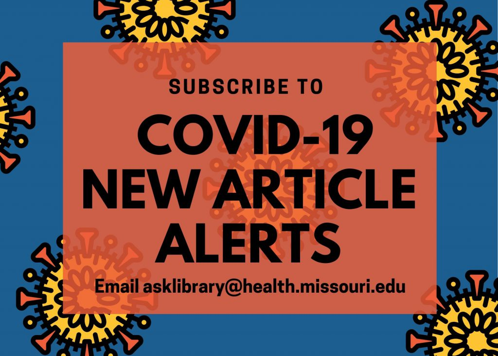 COVID-19 New Article Alerts