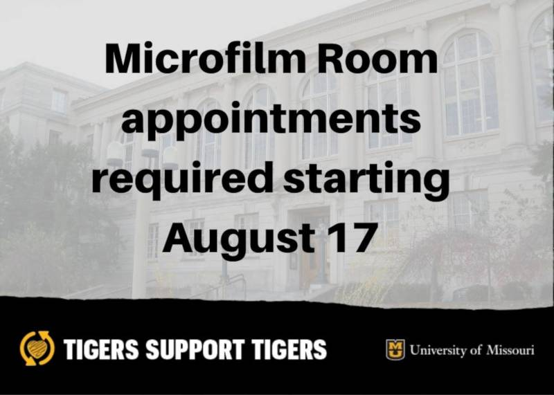 Microfilm room appointments required starting August 17