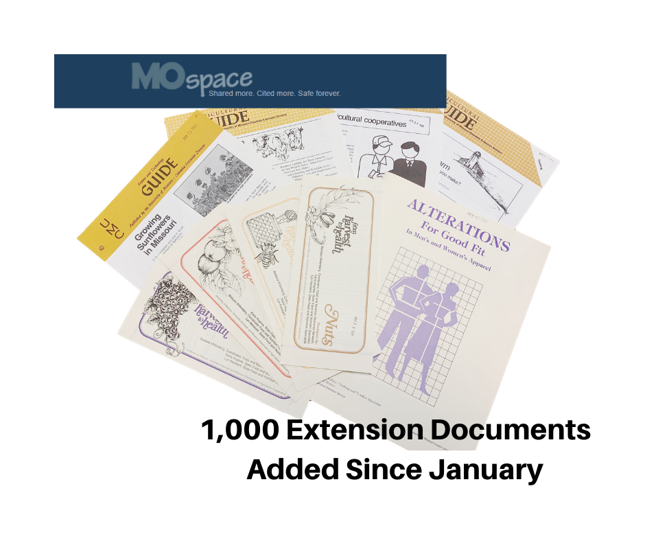 1,000 Documents Added to the MU Extension Collection in MOspace