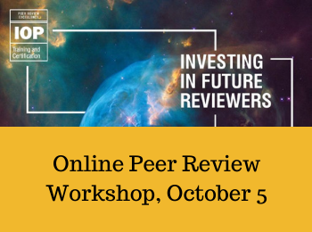 Workshop Recommendation: Peer Review Excellence, Oct. 5