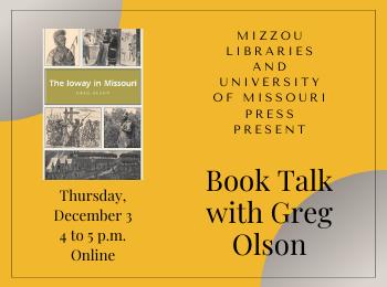 Book Talk with Greg Olson: The Ioway in Missouri