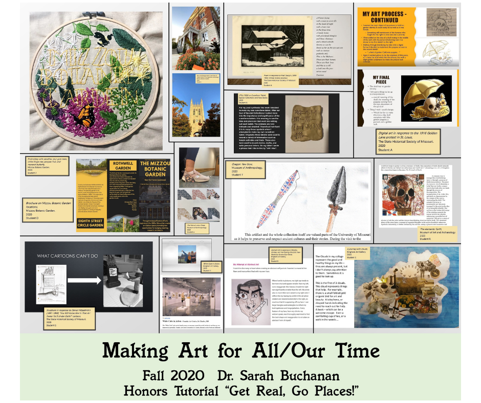 Digital Display of Honors Student Artworks: Making Art for All/Our Time