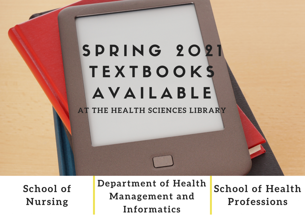 Spring 2021 Textbooks Available at HSL