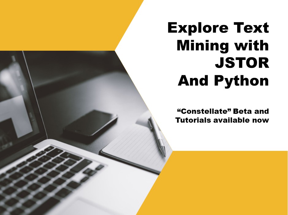 Explore Text Mining with JSTOR and Python