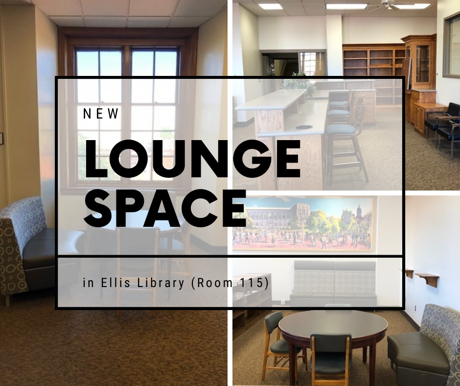 New Lounge Space in Ellis Library Room 115