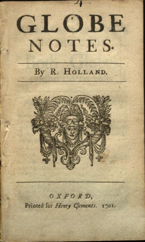Globe notes / by R. Holland.