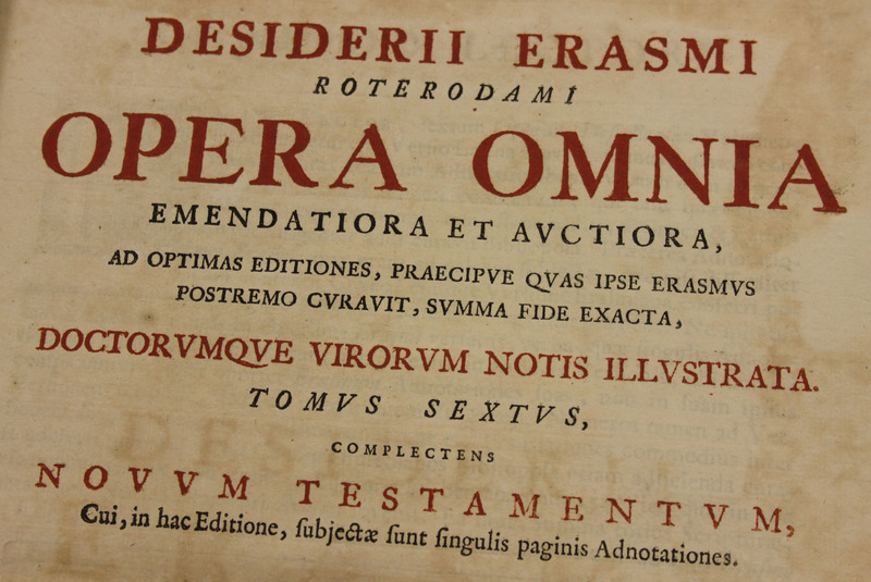 Desiderii Erasmi Roterodami Opera omnia