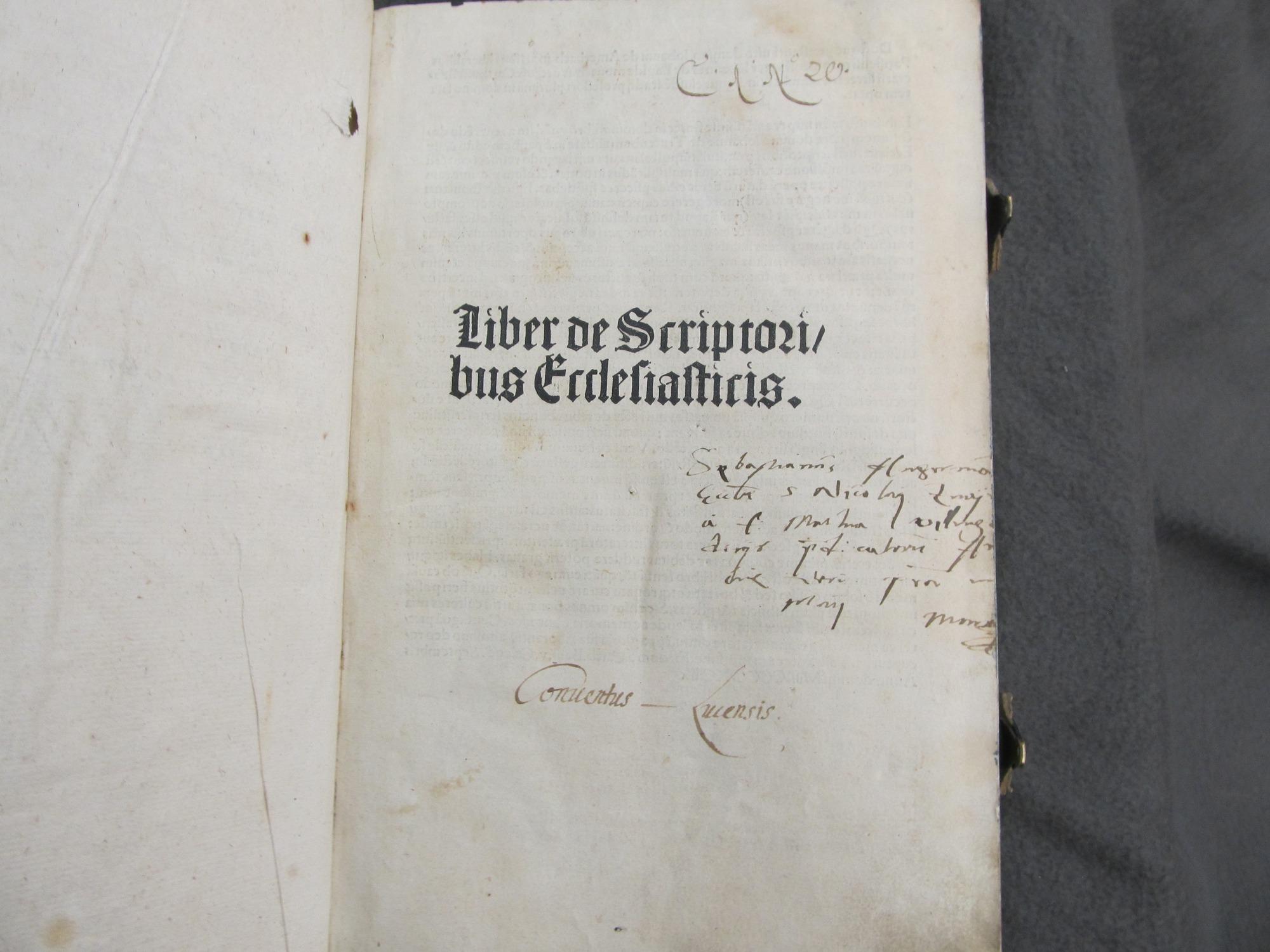 Liber de Scriptoribus Ecclesiasticis.