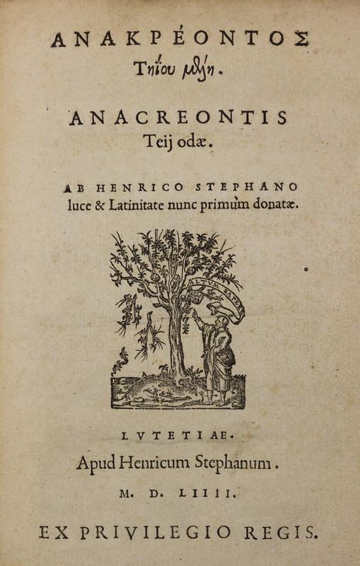 Anakreontos Tēiou Melē = Anacreontis Teii Odae