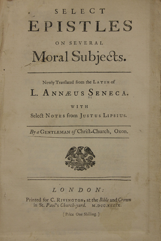 Select epistles on several moral subjects