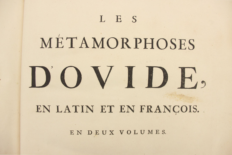 Les métamorphoses d'Ovide : en latin, traduites en franc̦ios, avec des remarques et des explications historiques