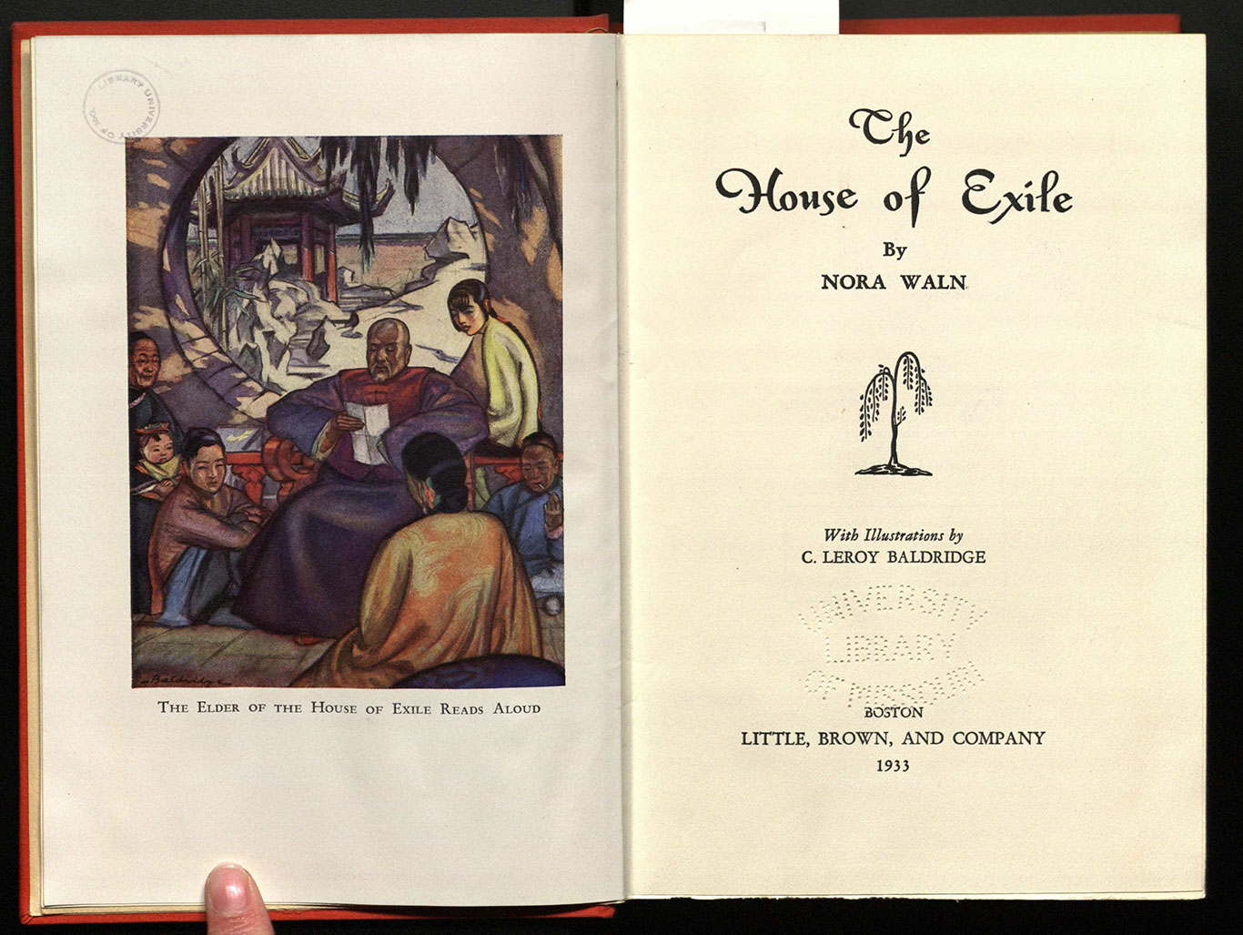 The House of exile / by Nora Waln; with illustrations by C. Le Roy Baldridge.