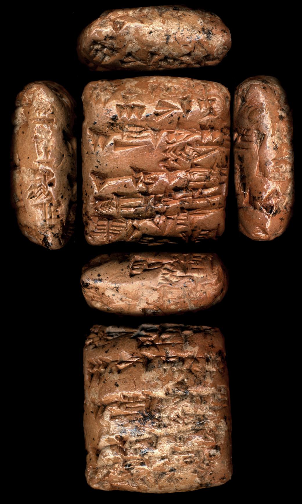 [Cuneiform tablet]. [Messenger text].