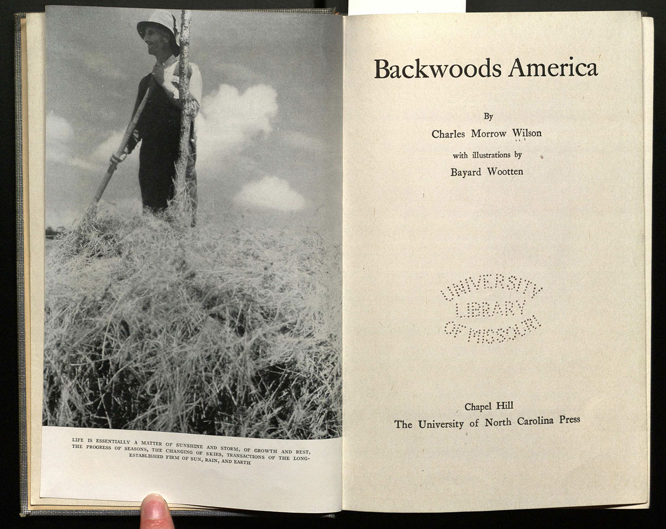 Backwoods America / with illustrations by Bayard Wootten.
