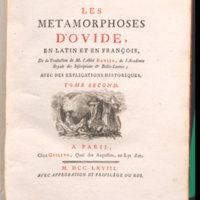 Les Metamorphoses d'Ovide, en latin et en françois / de la traduction de m. l'abbé Banier ... avec des explications historiques
