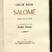 Salome : a tragedy in one act, translated from the French of Oscar Wilde by Alfred Douglas and illustrated by Aubrey Beardsley ; with a new introduction by Holbrook Jackson.