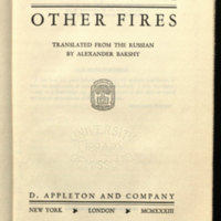 Other fires / translated from the Russian by Alexander Bakshy.