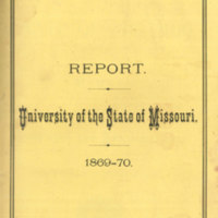 Report containing catalogue and announcements for the year ending June 29, 1870