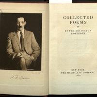 Collected poems of Edwin Arlington Robinson.