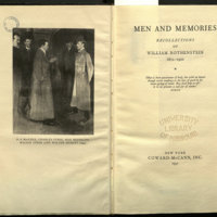 Men and memories : recollections, 1872-1938 / by William Rothenstein ; edited by Mary Lago.