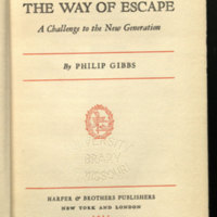The way of escape ; a challenge to the new generation