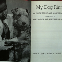 My dog Rinty / [by] Ellen Tarry and Marie Hall Ets, illustrated by Alexander and Alexandra Alland.