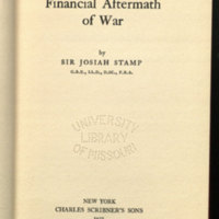The financial aftermath of war / by Sir Josiah Stamp