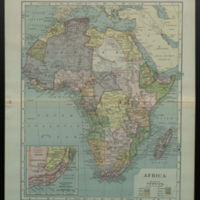Africa [with colonial borders and color-coding]
