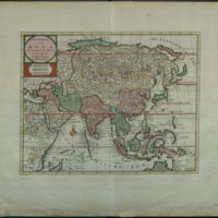 Nieuwe Kaart van Asia na de alderlaatste ondekking int licht gebrachat