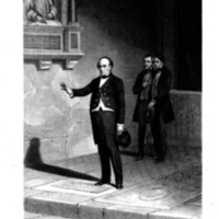 Daniel Webster at the tomb of Shakspeare [sic] [graphic] : designed expressly for 'Godey' / by Schuessele.