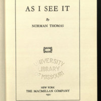 As I see it / by Norman Thomas.