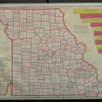 A Statistical Map of Missouri Showing Manufacturing and Mechanical Industries by Counties. With A Soil and Mineral Map of Missouri Showing the Principal Soil Areas and the Regions of Coal, Lead, and Zinc.