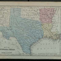 Map of Louisiana, Texas, and Arkansas.