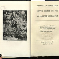 Darling of misfortune : Edwin Booth: 1833-1893.